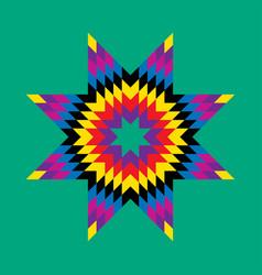 sunburst - design element for christmas vector image