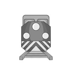 Train icon black monochrome style vector image