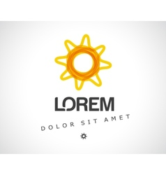 Abstract Sun Logo Design Template vector image