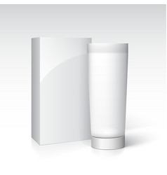 Box and tube of cream Ready for your design vector image