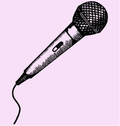Microphone karaoke vector image vector image