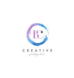bc letter logo circular purple splash brush vector image vector image