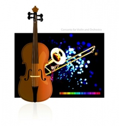 concerto for violin and orchestra vector image vector image