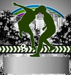 soccer grunge background vector image vector image