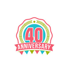 anniversary forty years number vector image vector image