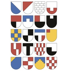 Colorful templates for coats of arms vector image vector image