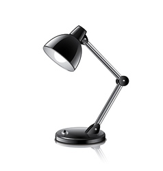 Desk lamp isolated vector