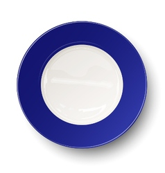Empty blue plate isolated on white background vector