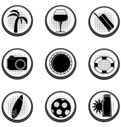 Set of black icons EPS10 vector image vector image