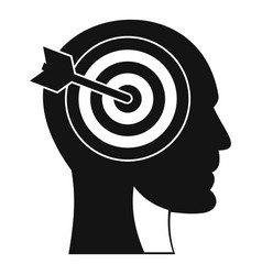 target in human head icon simple style vector image vector image