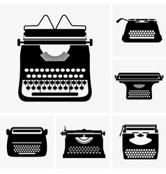 Typewriter vector image vector image