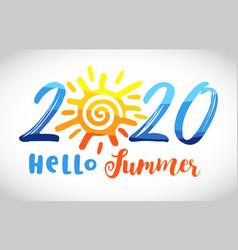 2020 sun vector