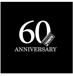 60 year anniversary template design vector