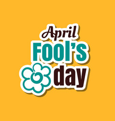 April fools day flower vector