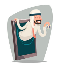arab businessman call ard agent online mobile vector image