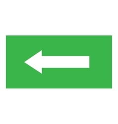 Arrow sign white icon in green rectangle vector image