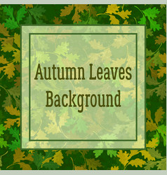 Background oak leaves vector