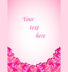 beautiful template with roses for cards vector image