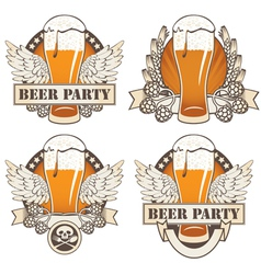 beer wings vector image