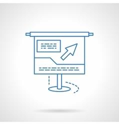 Blue flat line online presentation icon vector image
