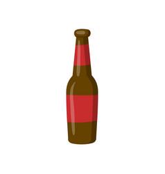 bottle of beer cartoon vector image