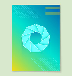 Bright abstract poster with round geometric shape vector