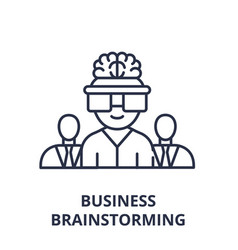 business brainstorming line icon concept business vector image