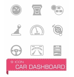 Car dashboard icon set vector