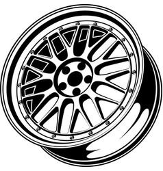 car wheel 10 vector image