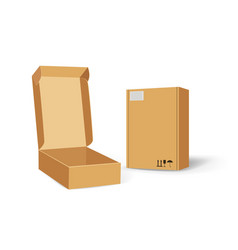 carton packaging box delivery set of different vector image