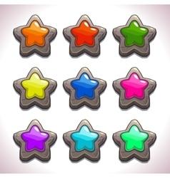 Cartoon stone stars vector image