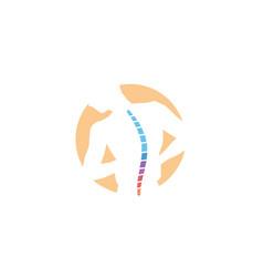 Chiropractic body pain exercice spine logo vector