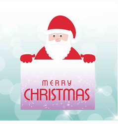 christmas card with santa clause light background vector image