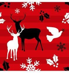 Christmas reindeer pattern background vector