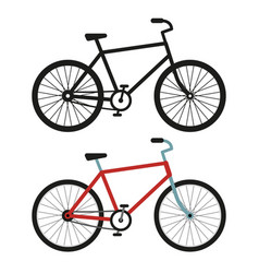 city bicycle black and white silhouette vector image