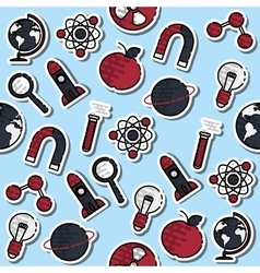 Colored science pattern vector image
