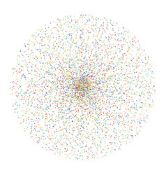 colorful dots in circle form vector image