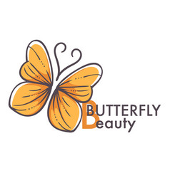 Corporate identity template butterfly insect vector