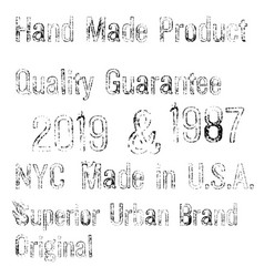 denim label typographic elements vector image