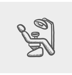 Dental chair sketch icon vector
