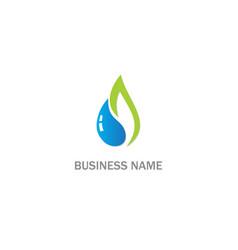 Eco droplet water bio logo vector