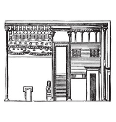 Egyptian dwelling houses vintage engraving vector