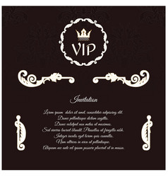 elegant invitation for vip with a circular vector image