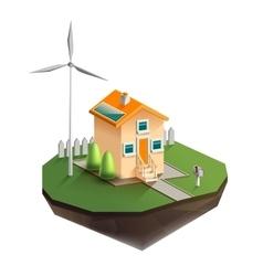 Environmentally friendly house vector