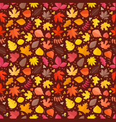 fall leaves seamless background fall leaves vector image
