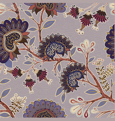 Floral seamless pattern indian wallpaper indian vector