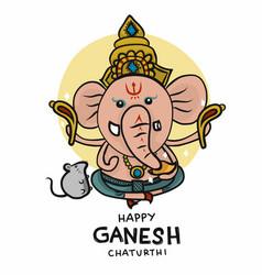 Ganesh cartoon vector