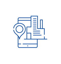 geolocation system line icon concept geolocation vector image