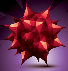 Geometric red polygonal structure modern science vector