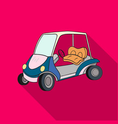 golf cart icon in flat style isolated on white vector image